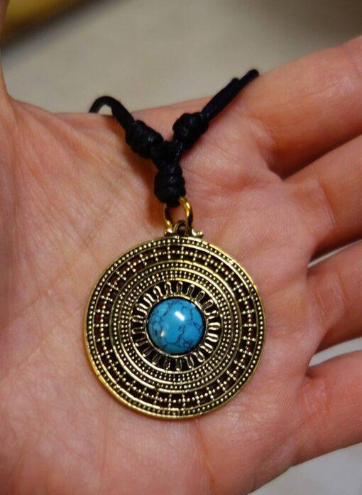 Amulett Kette Türkis