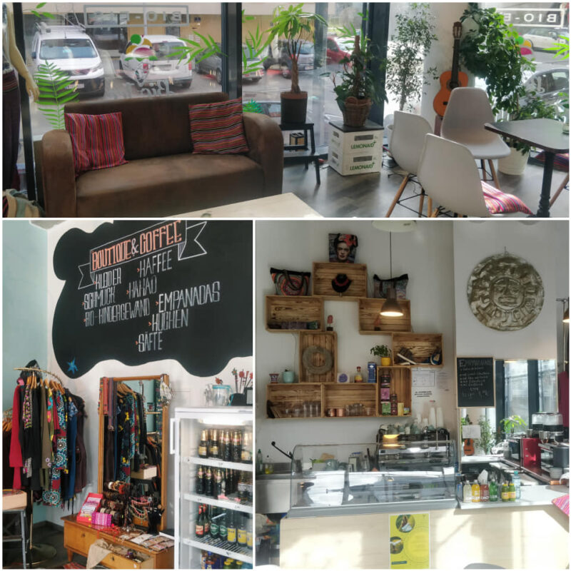 Inti Boutique und Coffee Shop Innenansicht