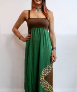 Green Hippie Maxikleid