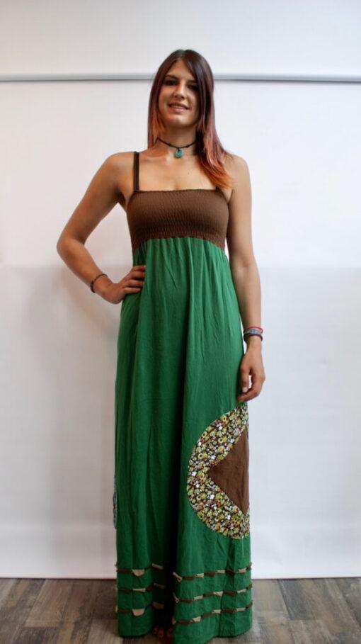 Green Hippie Maxikleid