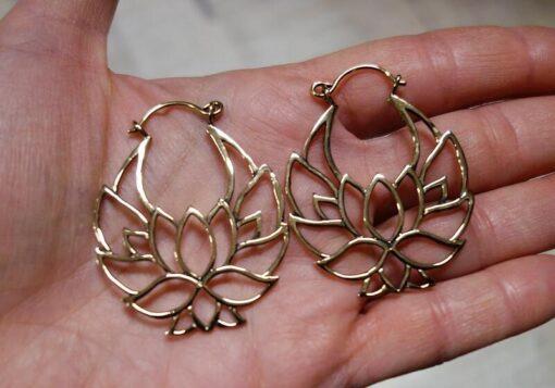 Lotus Ohrringe