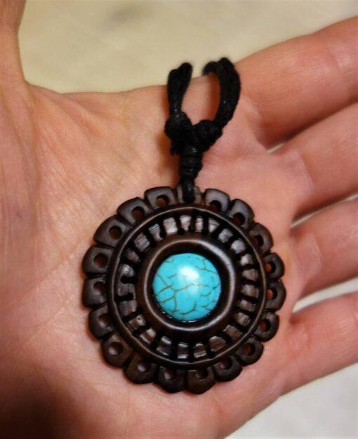 Mandala Kette Türkis