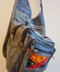 Jeans Patchwork Tasche