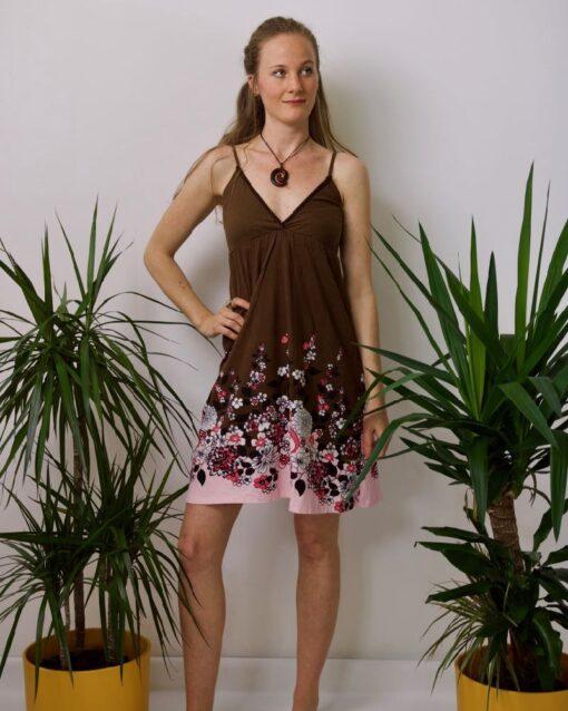 V-Neck Flower Kleid